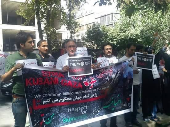 شرکت آقای مظفری در حرکت اعتراضی به همراه  آقای نوریزاد